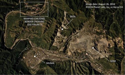 미국 북한전문매체 38노스가 공개한 북한 무산탄광과 주변 모습