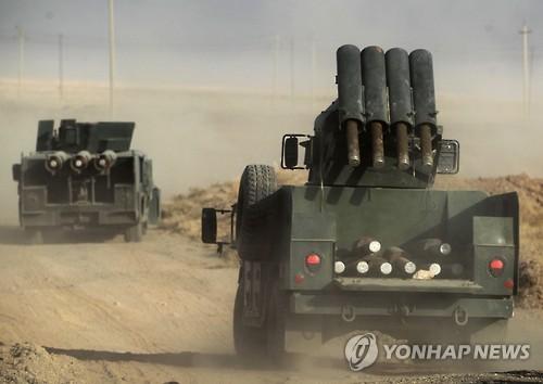 모술로 진격하는 이라크 군
