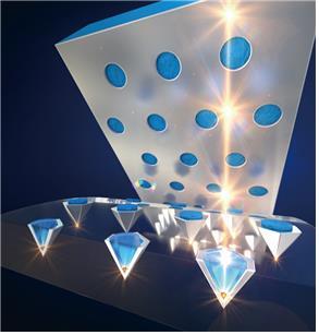 연구팀이 개발한 피라미드 양자점