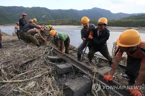 북한 근로자들