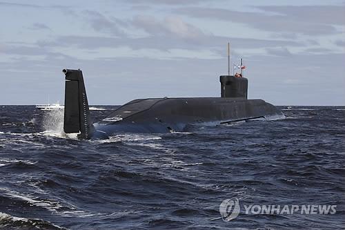 러시아의 최첨단 핵잠수함 '유리 돌고루키'[AP=연합뉴스 자료 사진]