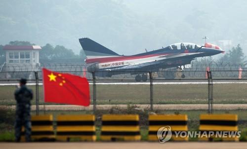 발진중인 중국 전투기[AFP=연합뉴스]