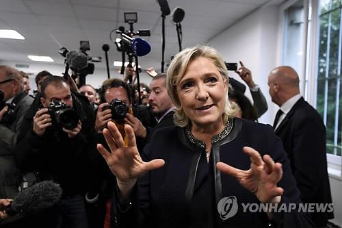 르펜 국민전선 대표[AFP=연합뉴스 자료사진]