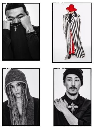 소아 청각 장애인을 돕기 위한 사진전에 참여한 힙합 아티스트들.