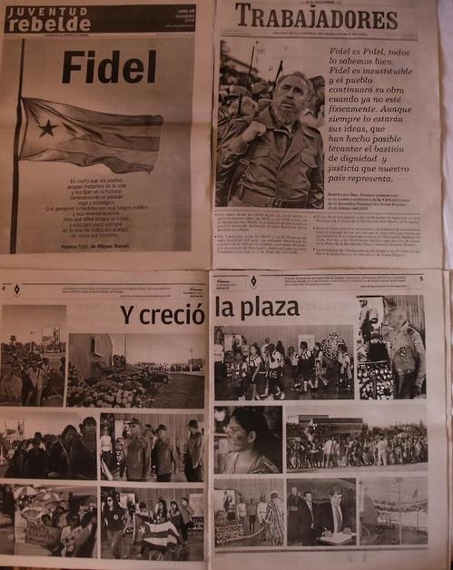 카스트로 모습 전하는 쿠바 매체들