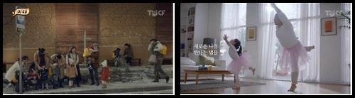 광고 '핫초코 미떼-순해요 편'(좌)과 '레고- 탱큐, 키즈 캠페인'(우)의 한장면