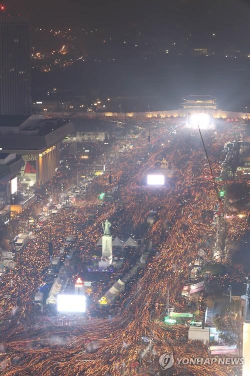 11월 26일 광화문 촛불행진 모습 [연합뉴스DB]