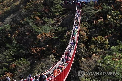 파주 감악산 출렁다리, 연합뉴스 자료사진