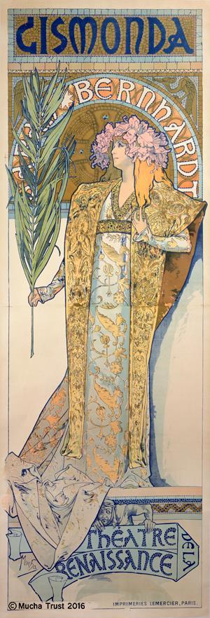 알폰스 무하의 포스터 '지스몽다', 1894년작.