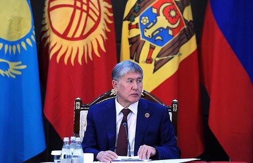 키르기스스탄 알마즈벡 아탐바예프 대통령 (타스통신=연합뉴스)