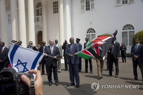 지난 7월 이스라엘 총리의 케냐 방문 [AP=연합뉴스 자료사진]
