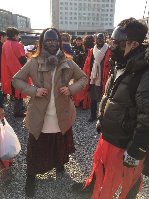 문화예술인, 문체부 항의집회
