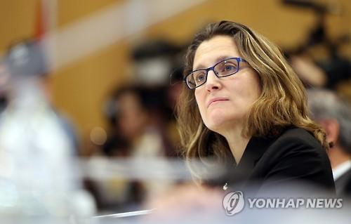크리스티아 프리랜드 신임 외교부 장관. [AFP=연합뉴스 자료사진]
