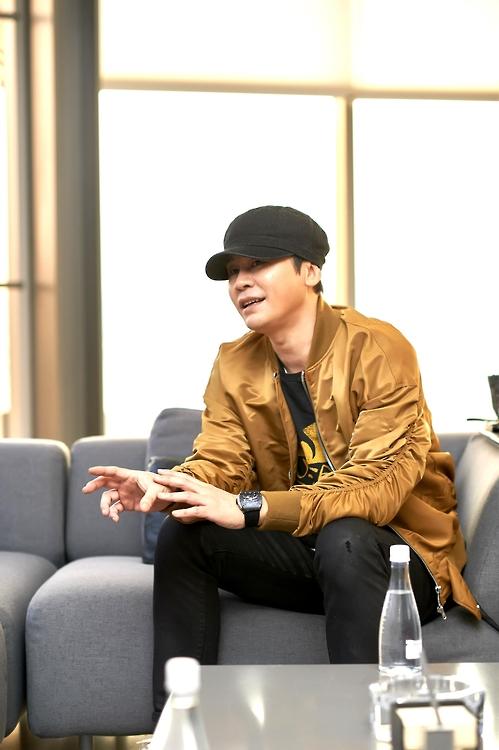 연합뉴스와 인터뷰 중인 YG 양현석 대표 프로듀서