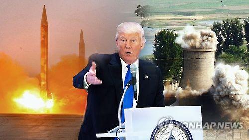 트럼프, 핵?미사일 위협 北 강하게 옥죈다(CG)