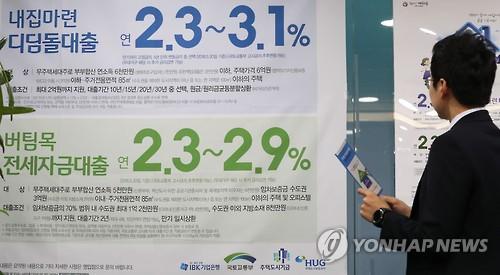 은행 가계대출 '사상 최대'[연합뉴스 자료사진]