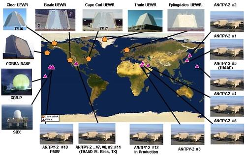 미국 지상 및 해상기반 센서 배치