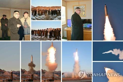 북한 탄도미사일 발사와 김정은