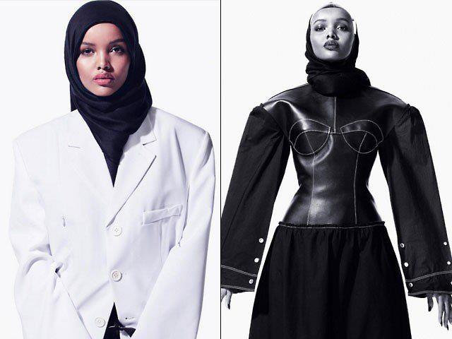 뉴욕 패션주간에 카녜이 웨스트 패션쇼에서 데뷔한 무슬림 여성 할리마 에이든