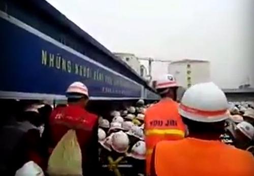 삼성디스플레이 베트남 공장 건설현장