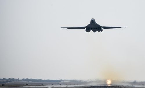 B-1B 폭격기[미 태평양 공군 홈피 캡처]