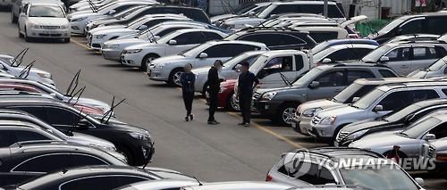 수원 중고자동차 매매단지 모습[연합뉴스 자료사진]