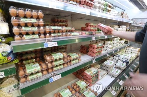 매대에 진열된 계란 [연합뉴스 자료사진]