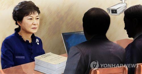박근혜 전 대통령의 검찰 조사 모습 예상도