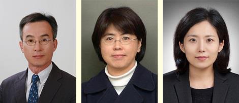 왼쪽부터 육종인 교수·황금숙 박사·김남희 교수(제1저자)