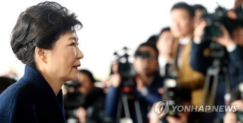[박근혜 소환] 무거운 표정의 박 전 대통령