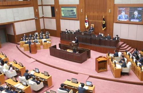 부산시의회 본회의장 모습 [연합뉴스 자료사진]