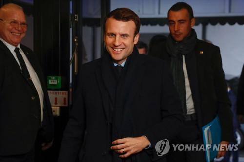프랑스 대선에서 당선이 유력한 마크롱 후보