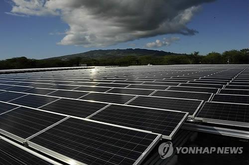 한화큐셀이 미국 하와이에 조성한 태양광발전소