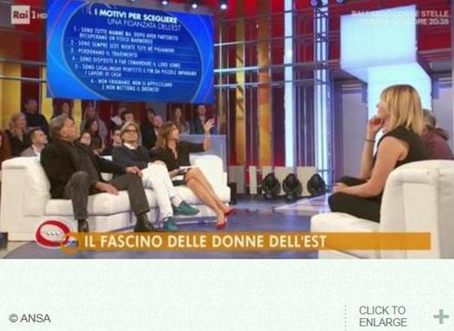 동유럽 여성에 대한 차별적 내용으로 뭇매를 맞은 이탈리아 RAI방송의 토크쇼 장