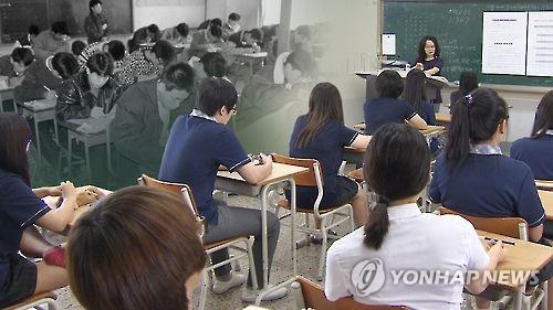 대한민국 교실 풍경[연합뉴스 TV제공]