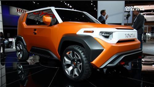 뉴욕 국제 오토쇼에서 공개된 도요타의 FT4X 콘셉트 자동차