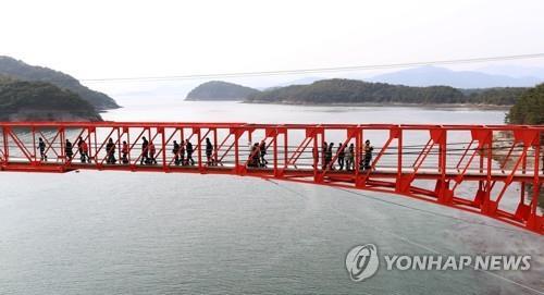 저도 연륙교 스카이워크 전경. [연합뉴스 자료사진]
