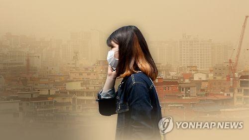 황사 땐 마스크 지참해야[연합뉴스 자료사진]