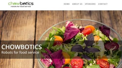음식 서비스 로봇개발업체 초보틱스 [홈페이지 캡처]