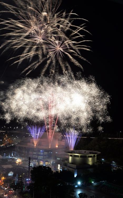 의정부음악극축제 개막 불꽃쇼