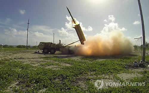 발사되는 사드 요격미사일[연합뉴스 사진]
