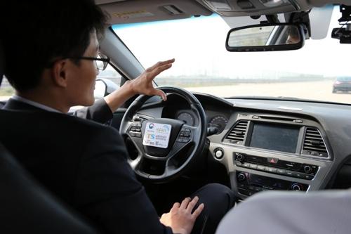 자동차안전연구원의 자율주행차 내부