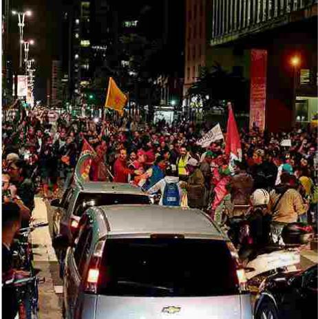 상파울루 시내에서 벌어진 '반 테메르' 시위