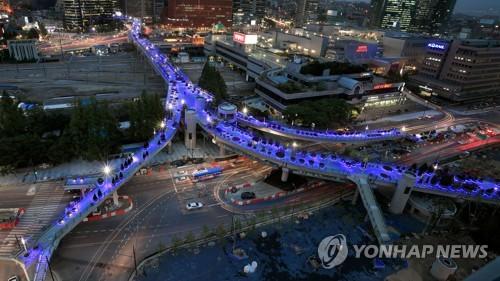 서울로 7017 야경 (연합뉴스 자료 사진)