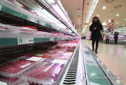 쇠고기 매장 [연합뉴스 자료사진]