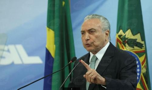퇴진 압박을 받는 미셰우 테메르 브라질 대통령