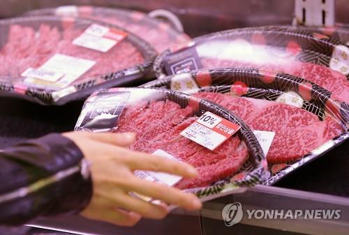 한우매장 [연합뉴스 자료사진]