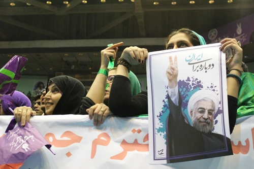 하산 로하니 이란 대통령의 지지자