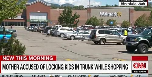미국 마트 주차장서 아이들 트렁크에 가둔 엄마