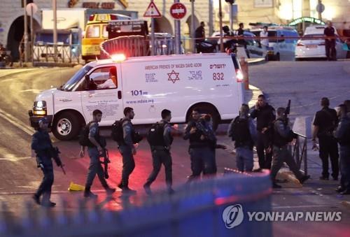 예루살렘 올드시티 주변에 배치된 이스라엘 경찰 [AFP=연합뉴스 자료사진]